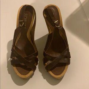 Wooden platform heels